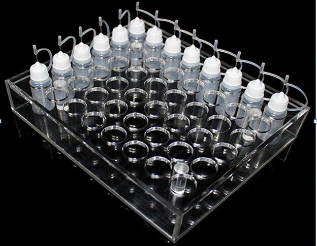 Acrylic e cig display stand showcase clear show shelf holder rack for ecig 10ml 20ml 30ml 50ml e liquid Empty juice bottle