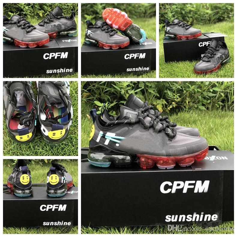 NIKE 2019 CPFM CACTUS BİTKİ FLEA PAZAR erkek koşu ayakkabı en kaliteli gülümseme yüz marka siyah erkek eğitmenler moda spor sneakers