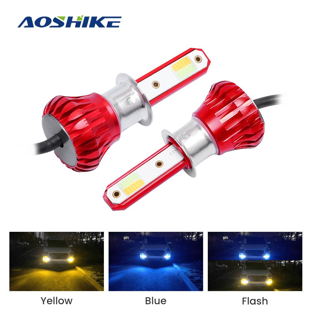 AOSHIKE 2ST LED Auto-Nebel-Glühlampe H1 H3 H7 H11 9005 9006 72W 4000LM 6000K 12V 24V Scheinwerfer Nebelscheinwerfer COB-Lampen