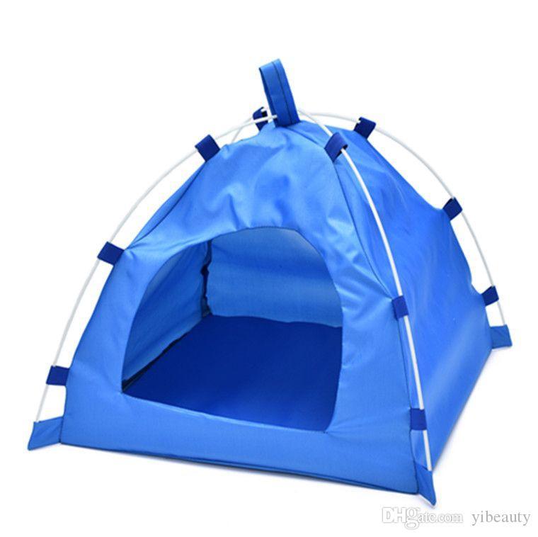 Четырехугольная туристическая палатка для домашних животных. Подходит для мелких животных среднего размера. Водонепроницаемая и влагонепроницаемая. Складная. Простая установка.