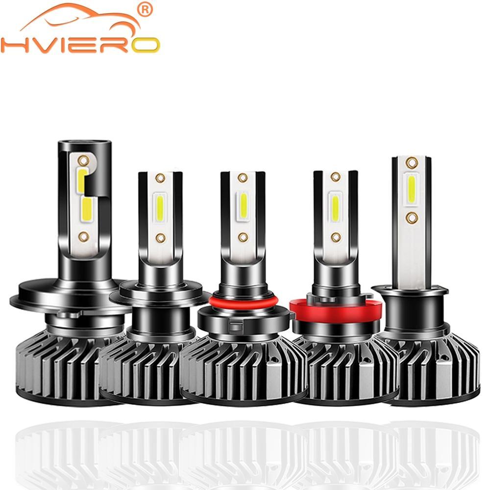 2X F2 CSP Temperatura de tres colores Bombillas de faros delanteros Lámpara H1 H3 H7 H8 H9 H10 H11 H16 880 9005 LED de coche