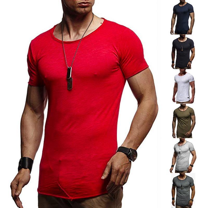 Yeni Yaz erkek Moda Yuvarlak Yaka ve Kısa Kollu casual tops ile T-shirt