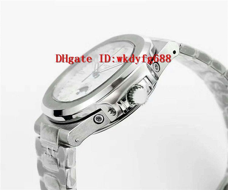 47d05cd2e9f ... 2018 Novo relógio de luxo Nautilus relógio Swiss Movimento Automático  28800 VPH Moonphase Data e dia ...