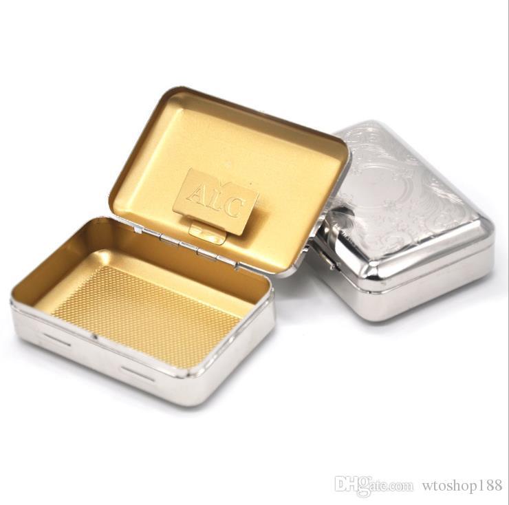 Portable cigarette box, pipe box, paper clip, stainless steel cigarette box