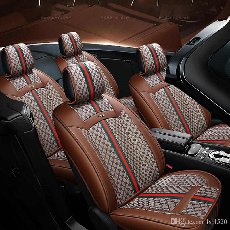 2020 New Luxury PU Leather Car seat covers 1set For Toyota Corolla Camry Rav4 Auris Prius Yalis Avensis SUV auto Interior Accessories (gray