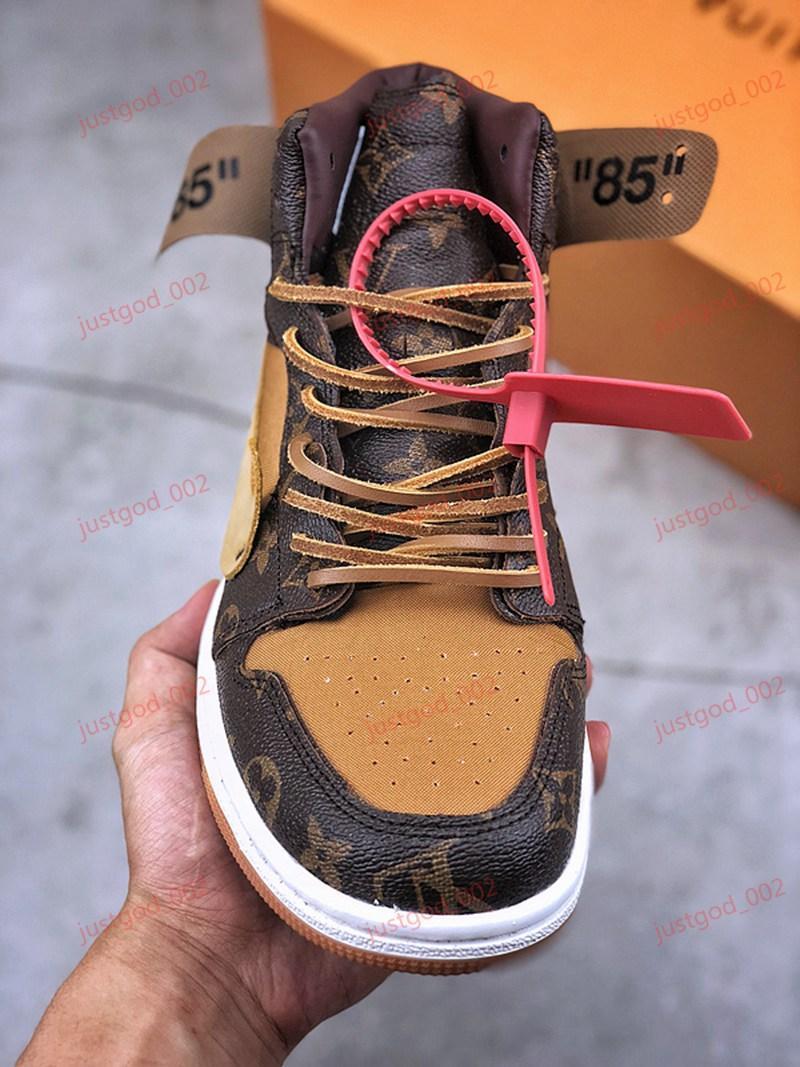 Zapatos Negro 1 Blanco Chicago UNC baloncesto del Mens xshfbcl 1s para los hombres RETRO deportes de las mujeres zapatillas de deporte los 85 Chaussures Tamaño 36-45