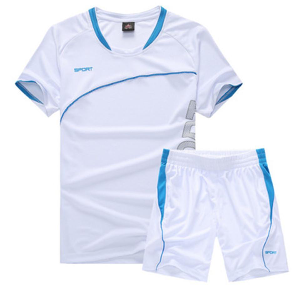 Two Piece Set Men Short Sleeve T Shirt Running Set Top+Shorts Men's Tracksuits 2018 New Sport Sportswear Tops Short Trousers NY19.8-325