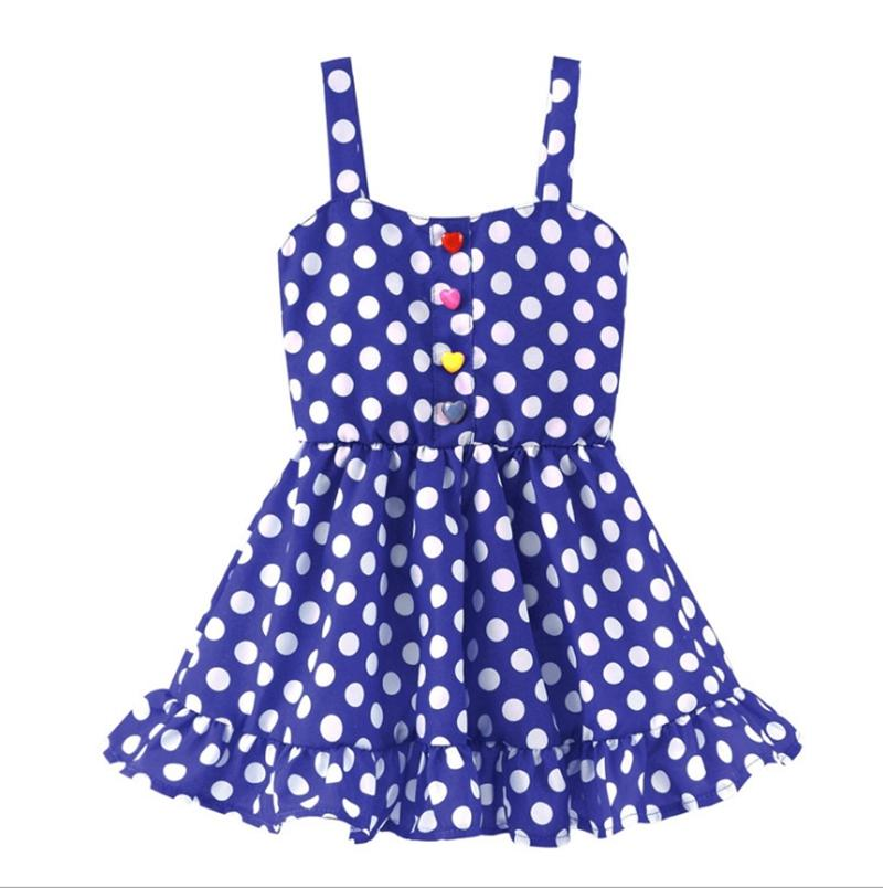 Baby Girls Dresses Striped Dot Princess Dress Kids Suspender Dresses Summer Girls Outfits Designer Clothes Kids Clothing WZW-YW2901