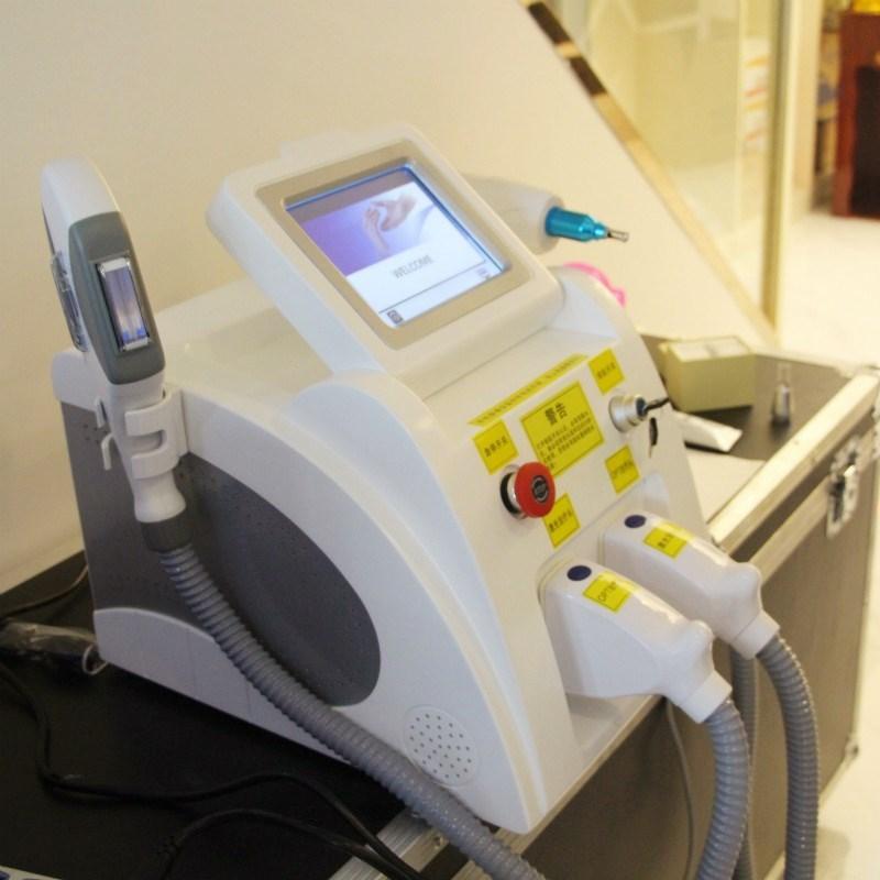 Riduzione / SHR IPL capelli capelli multifunzionale macchina di bellezza IPL Shr laser Nd Yag permanente di rimozione di rimozione del tatuaggio laser + interruttore q