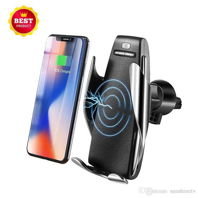 Автомобильное крепление 10Вт зарядное устройство для iPhone 11 x Ци беспроводное зарядное устройство быстрой беспроводной зарядное устройство коврик для IP х 8 8Plus Samsung Примечание 8 С8 плюс С7 край