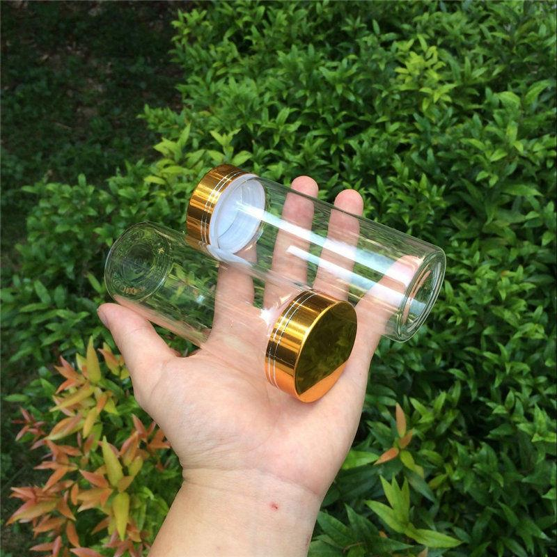 150ml Large Glass Bottles Glod Screw Cap Glass Bottles For Sand Candy Gift Jars Eco-Friendly1