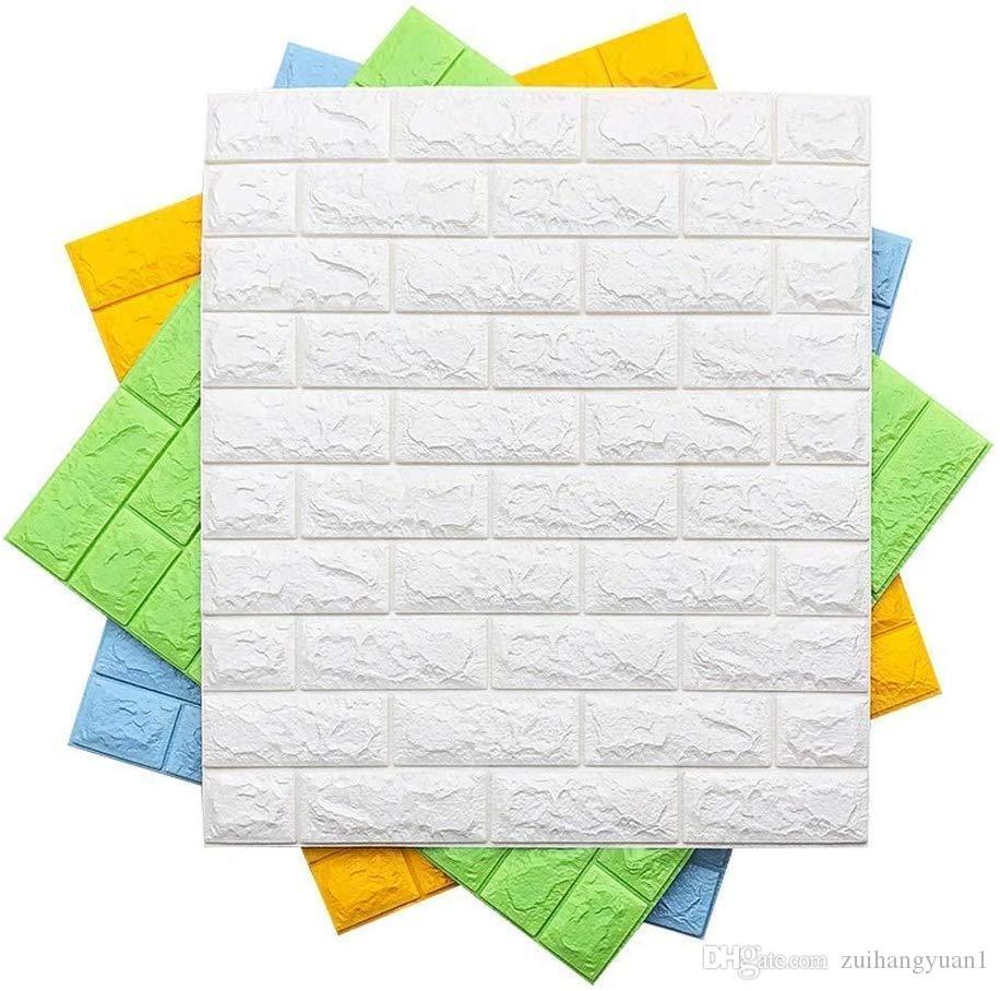 Padrão 3D Wallpaper móvel etiqueta tijolo 3D Wall Stickers PE Foam DIY auto-adesivo Wallpaper decorativa Quarto Sala Home Office