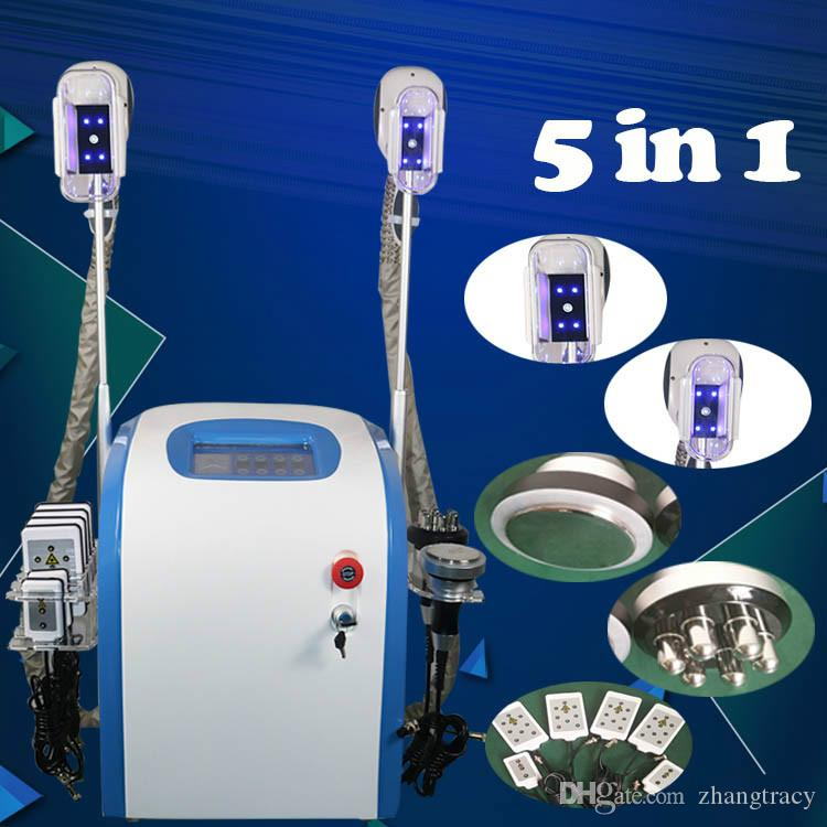 CE approved cryolipolysis slimming rf vacuum slimming machine slimming 2 fat freezing handle can work together
