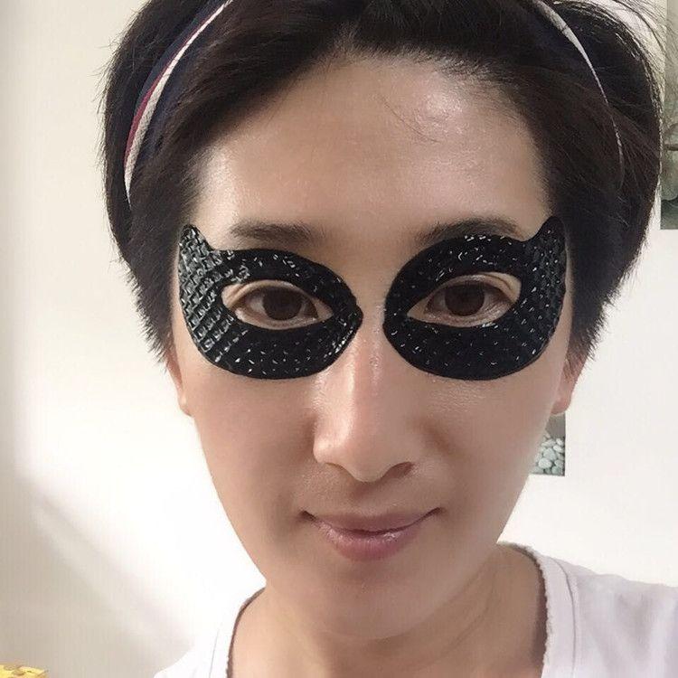 DHL Sunglasses forma de olho máscara preta Collagen Eye rugas de envelhecimento Sob cristal patch Gel Anti máscara 2pcs = 1pair de beleza