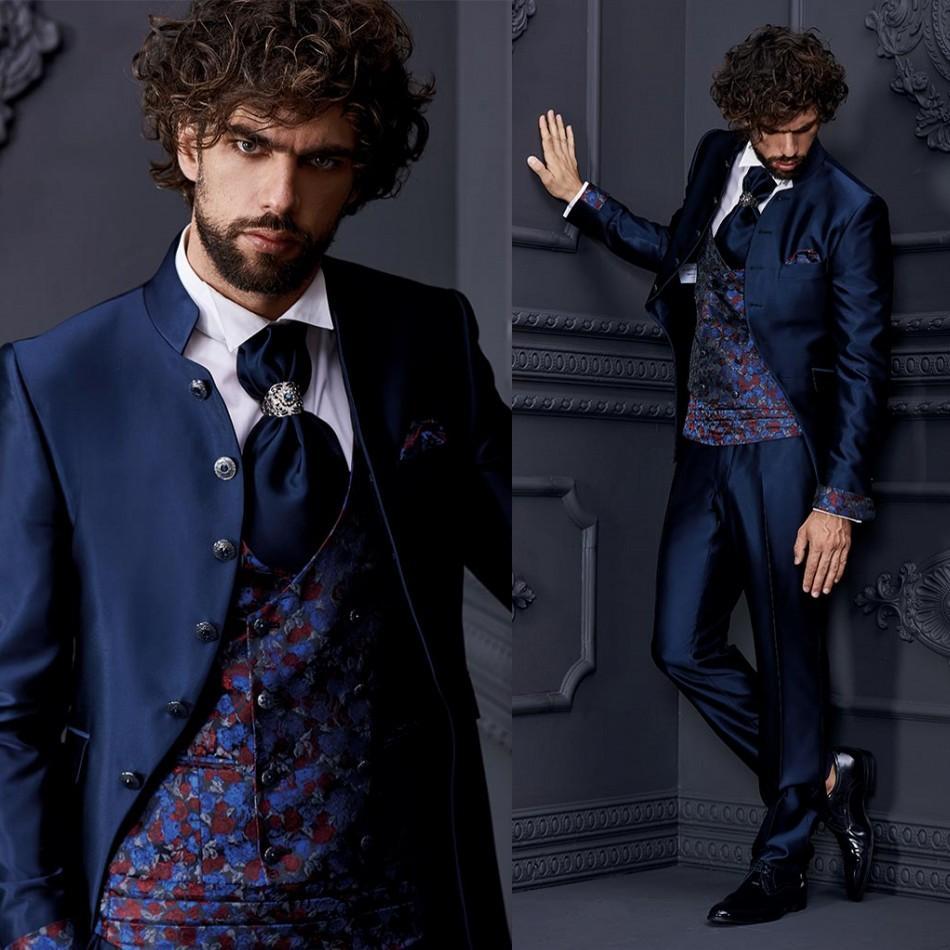 Alto qualiy para hombre guapos juegos con estilo formal del partido 2 Piezas boda del novio de los smokinges mejor hombre Prom Blazer Suit (chaqueta + pantalones)