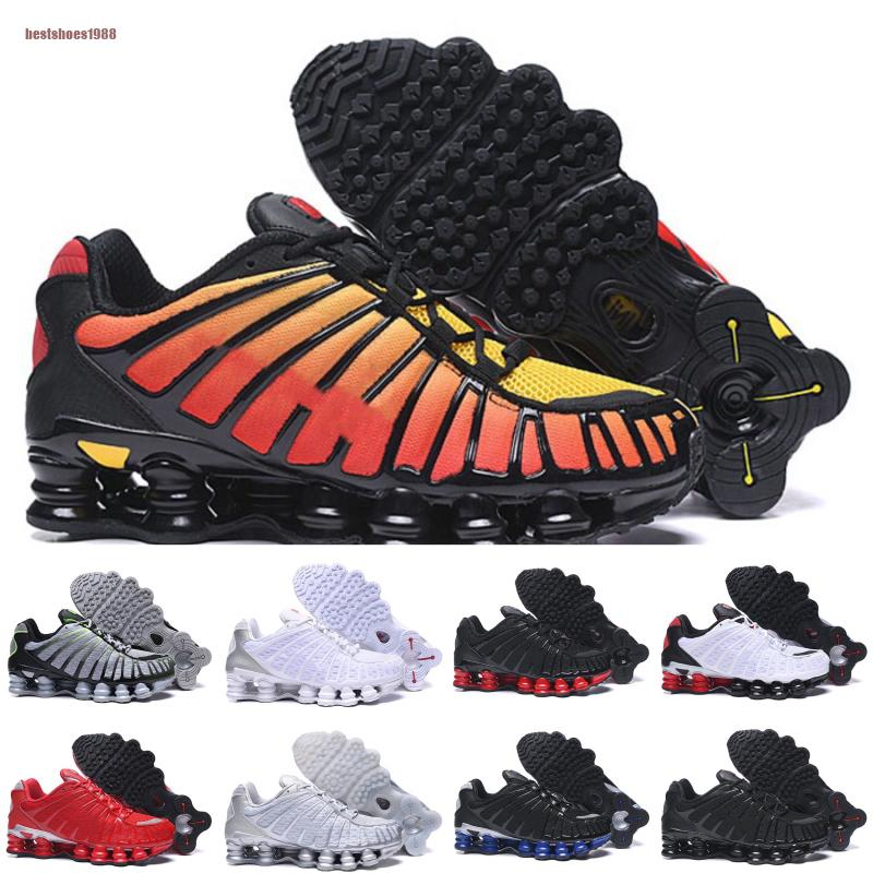 Nike air max Shox TL argile Orange Chaussures de course OZ NZ Sunrise University Rouge Blanc Triple Noir Bleu Métallique Argent Hommes Formateurs Sport sneakers
