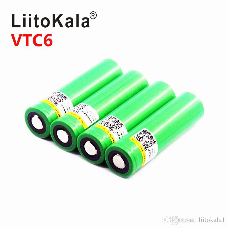 all'ingrosso batteria Liitokala universale 18650 3000mAh 30A batteria torcia us18650 vtc6 potenza della batteria al litio 100%