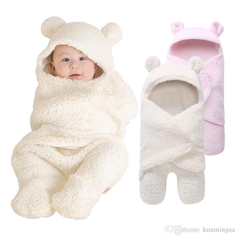 New Soft Baby Coperte Neonato Baby Boy Girl Swaddle Bambino Sleeping Wrap Coperta Fotografia Prop per Ragazzi Ragazze Kid 0-12 M