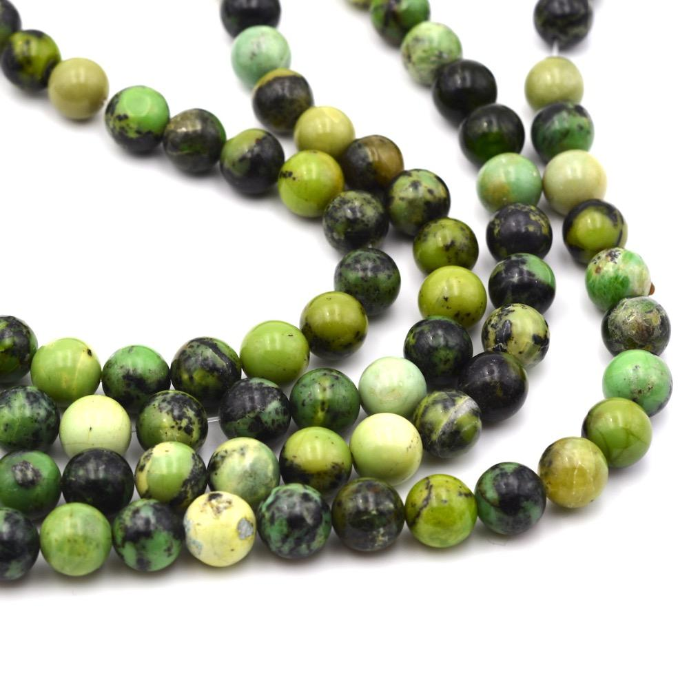 Natural Stone Round 12mm Chrysoprase stone beads full strand