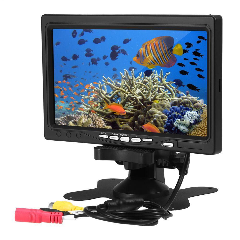 7 Polegada LCD Tela Colorida Monitor de Vídeo com 8 GB de Memória Acessório de Tela de Substituição para Câmera Subaquática Localizador de Pesca