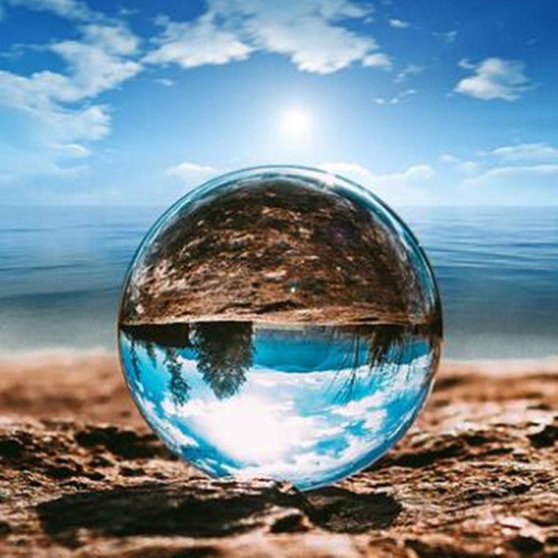 2019 HOT مسح زجاج كريستال الكرة شفاء المجال التصوير الفوتوغرافي الدعائم Lensball ديكور الدعائم صور هدية لفي الهواء الطلق التصوير الفوتوغرافي