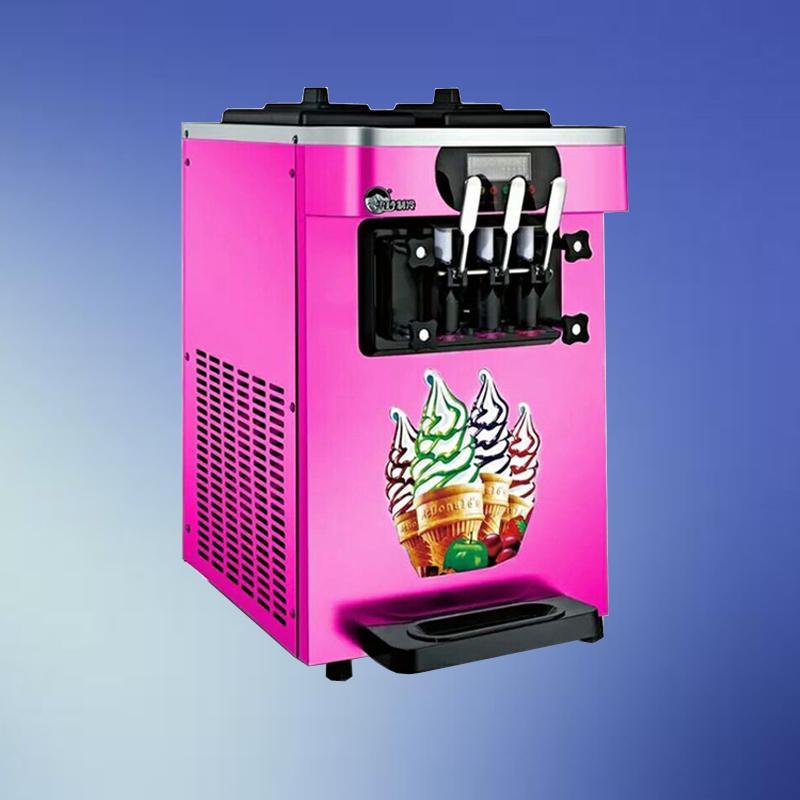 Haute Qualité Crème glacée molle machine / Nouveau plateau de table en acier inoxydable industrielle servent douce machine à crème glacée avec 3 saveurs