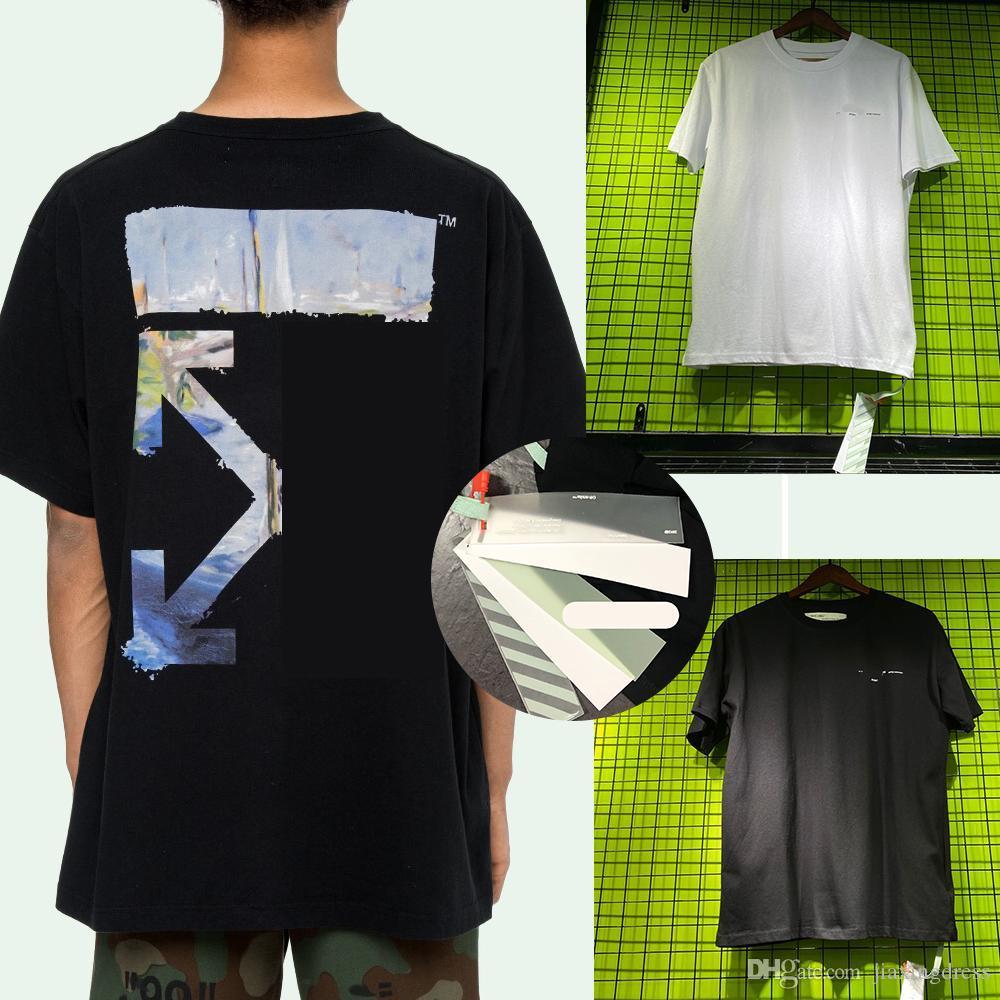 Nouvelle courte chemise hommes été t MANCHES Bonne qualité coton chemises OFF Noir Whiter unisexe Homme Taille S été Clothings-XL