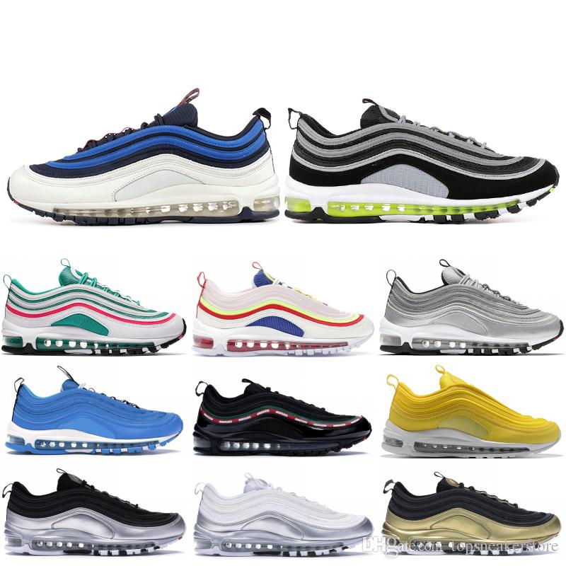 Best Trail Running Shoes 2020.2020 97 97s Men Running Shoes Balck Metallic Gold South Beach Prm Yellow Triple White 97s Designer Women Sports Sneakers Us 5 5 11 Best Trail Running