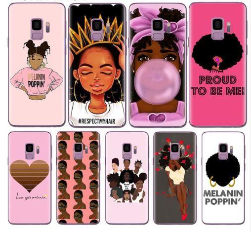 2bunz Melanin Poppin ABA Cases for Coque Samsung Galaxy S8 S9 S10 S20 PLUS ULTRA NOTA 8 9 10 20 PRO A21 A31 A41 A51 A71 5G Cover