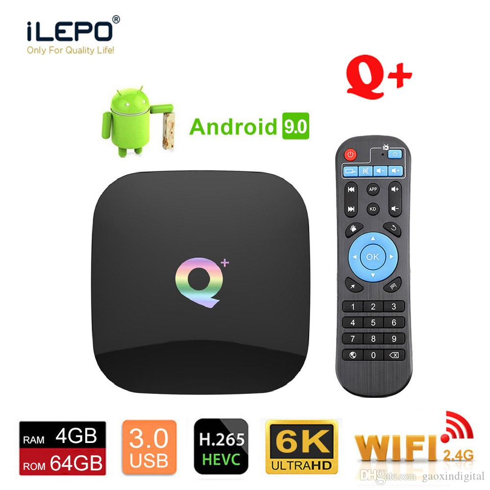 Q Plus Android 9.0 TV Box Allwinner H6 Quadcore 4GB 64GB WiFi LAN USB3.0 HDMI2.0 1080P android box with romote