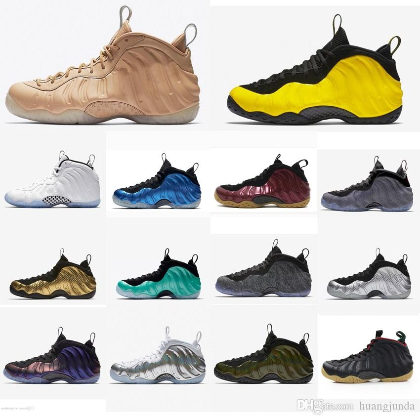 Cheap new Mens Penny Hardaway Posite basketball shoes Camouflage Silver Floral Black Red Gold air flights foams one sneakers tennis for sale