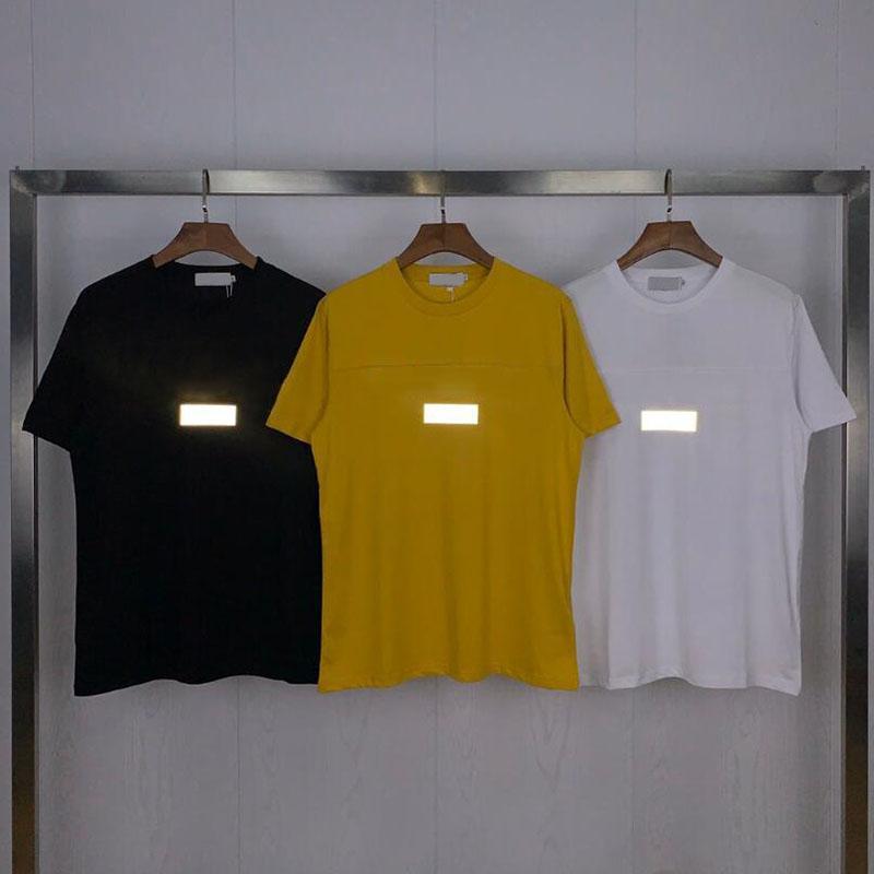 Hot Mens Design Men's T-Shirts Casual 3M Reflective Tee Shirts Short Sleeves Men Women Summer Casual Street T Shirts