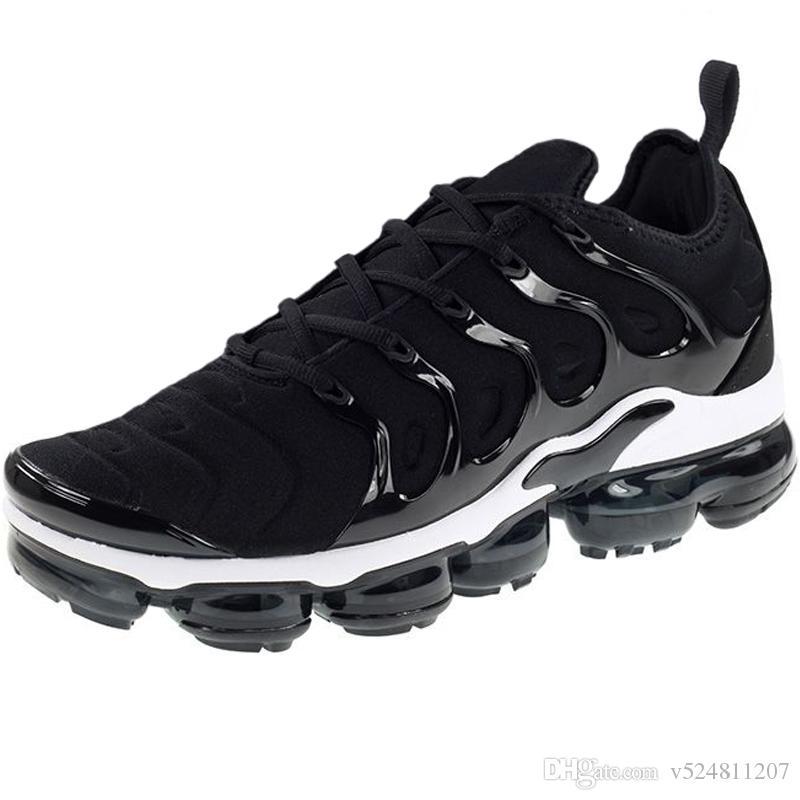 Yaz TN Artı Erkek Koşu Ayakkabıları Siyah Üçlü Beyaz Neon Volt Kadınlar Spor Krem Racer Eğitmenler Sneakers