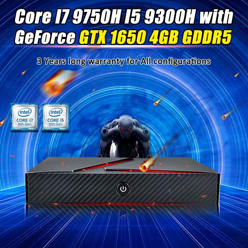 Eglobal GeForce GTX1650 Gaming Computer Dual Graphics área de trabalho 9ª Intel Core i7 9750H Mini PC 4k exibição Bluetooth4.0