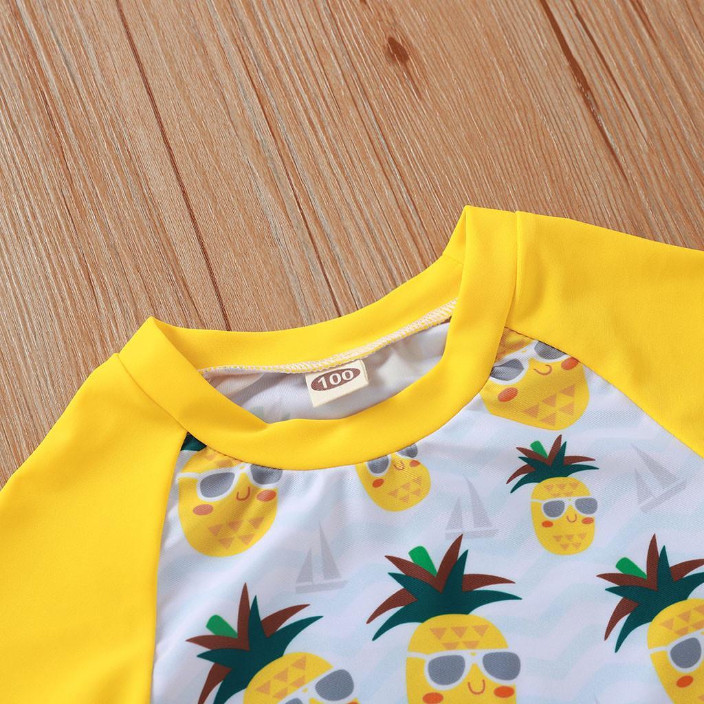 2020 biquini infantil 2adet mayo yürümeye başlayan çocuk 2020 Yaz Çocuk Bebek Kız Karikatür Ananas Mayo Mayo Kıyafetleri yazdır