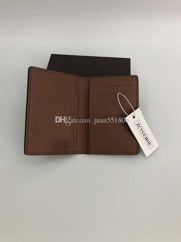 di alta qualità borsa di cuoio classico supporto della carta di credito stilista di moda 2020 note piegati e degli incassi distribuzione borsa Portafoglio
