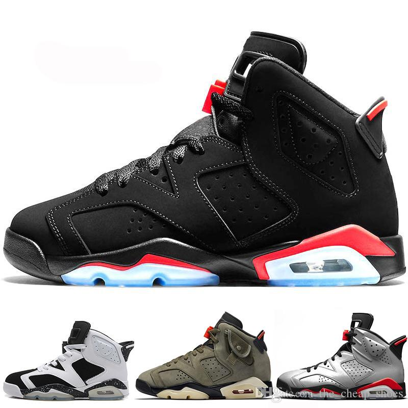 carmine 6 basketball shoes Classic 6s UNC black blue white infrared low chrome women men sport blue red oreo alternate Oreo black cat