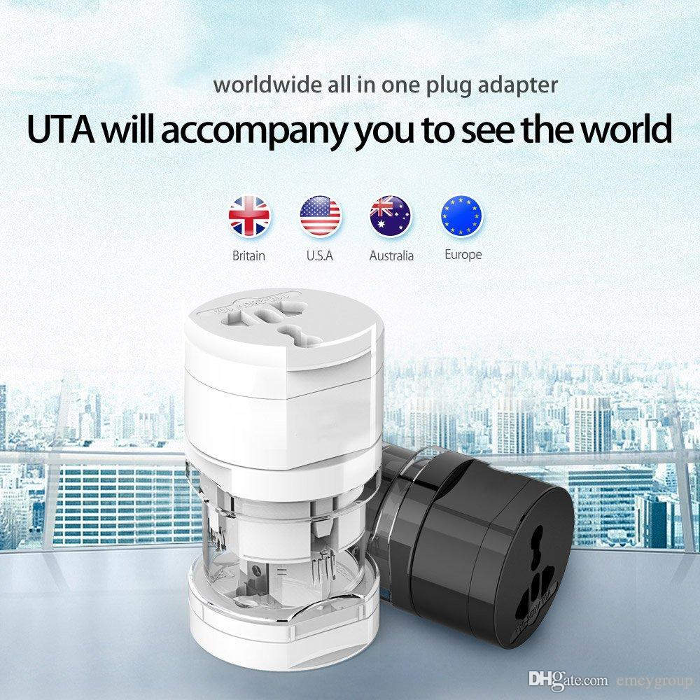 Good UTA Universal Electrical Plug Adapter Travel Power Socket Converter Outlet All in One Worldwide Use for US/ UK/ EU/ AU