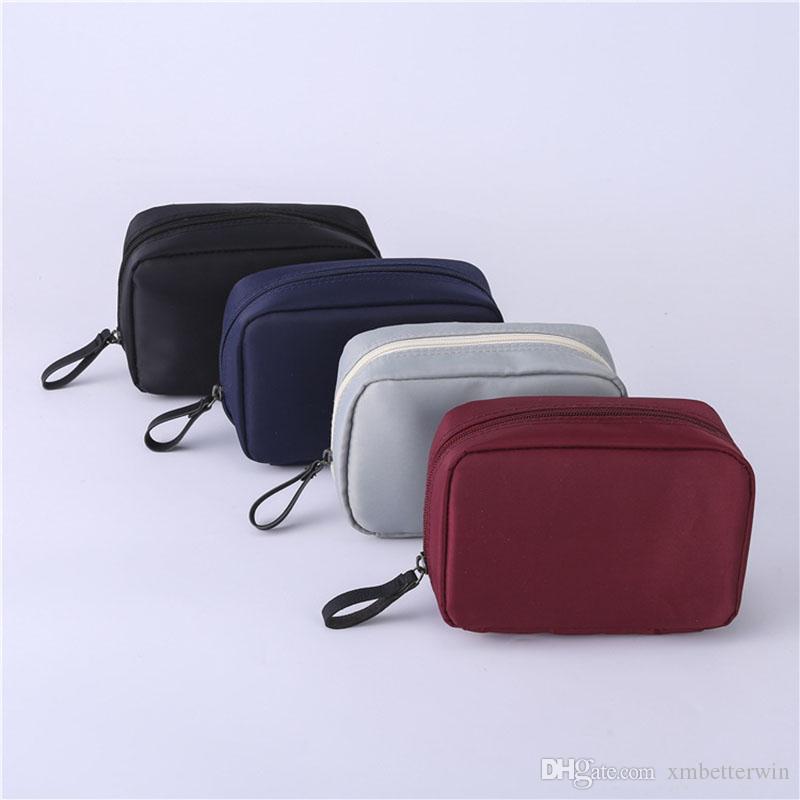 Borsa cosmetica delle donne 15PCS / LOT Borsa cosmetica portatile delle borse di viaggio Borse da viaggio Borsa da toilette Ragazza Custodia per il trucco Custodia per il trucco
