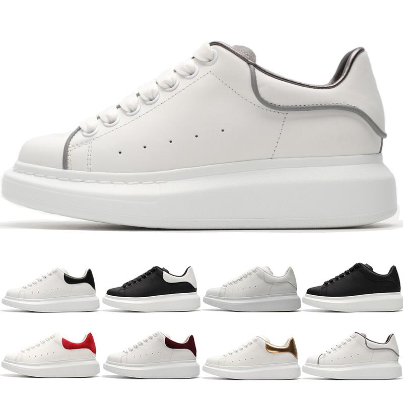 Plate-forme Noir Blanc Classique Chaussures Casual Sport Skateboard Chaussures Hommes Femmes Garçons Filles Mode Rouge Or Sneakers Taille 36-44