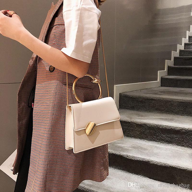 Femmes Sac À Main 2019 Mode Nouvelle Haute En Cuir Femmes sac Contraste Dame Fourre-Tout D'épaule Messenger Sac Bandoulière