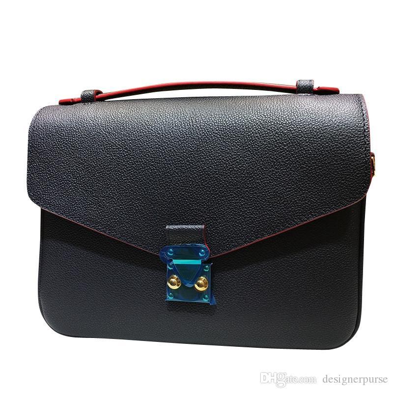 최고 품질 디자이너 핸드백 양각 가죽 여자 가방 패션 브랜드 Metis 메신저 가방 디자이너 취재 가방
