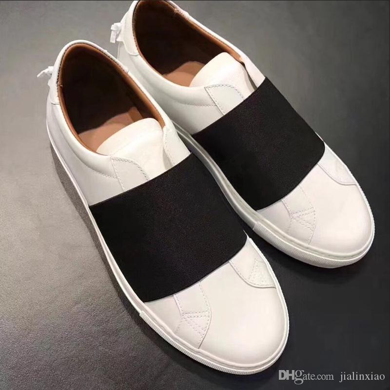 Givenchy La vendita calda del progettista di marca coppie donne uomini di alta qualità cinghia di più Logo pelle urbano Steet Sneakers Superstars White Shoes