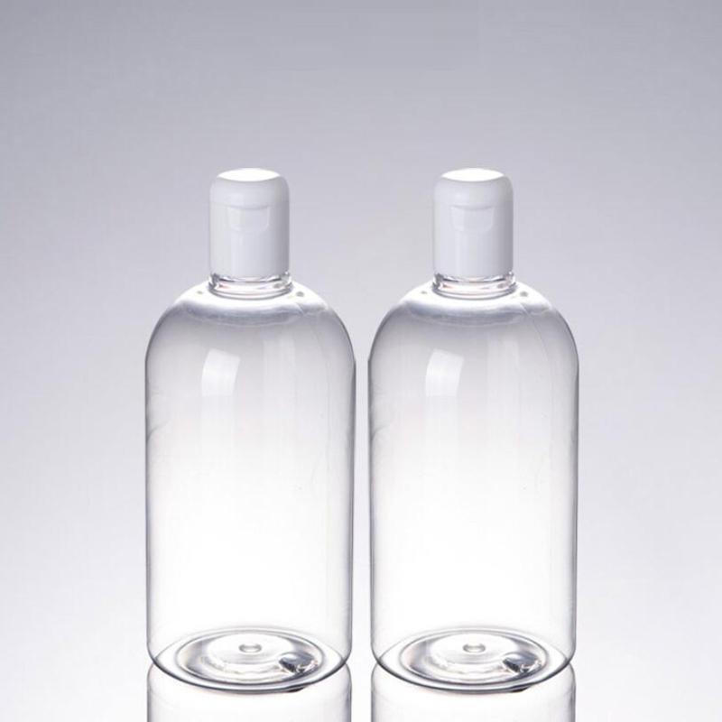 500ML البلاستيك التجميل الجرار حاويات الحبر غسول جوهر زجاجة التعبئة التطهير الحبر إعادة الملء زجاجات ماكياج أداة التخزين DHB619