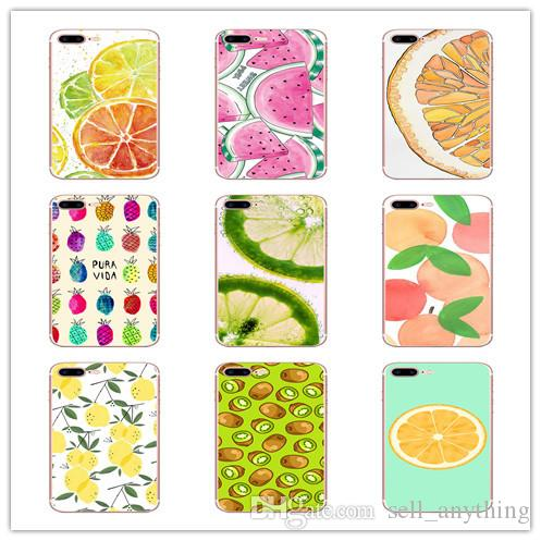 Fruit Cell Phone Case Watermelon Strawberry Painting For Iphone Xr 6 7 8 X Plus Xs Max TPU Anti-Fall Soft Phone Cases