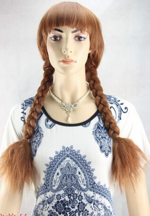 peluca de las nuevas mujeres del partido de Cosplay del partido de Cosplay de las pelucas de Brown del pelo rizado largo de la manera libre