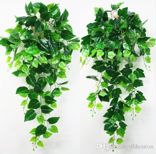 Artificial Plant Rattan High quality green Ivy Leaf Garland for plaza wedding decoration Artificial Vines Plant Leave for home decorations