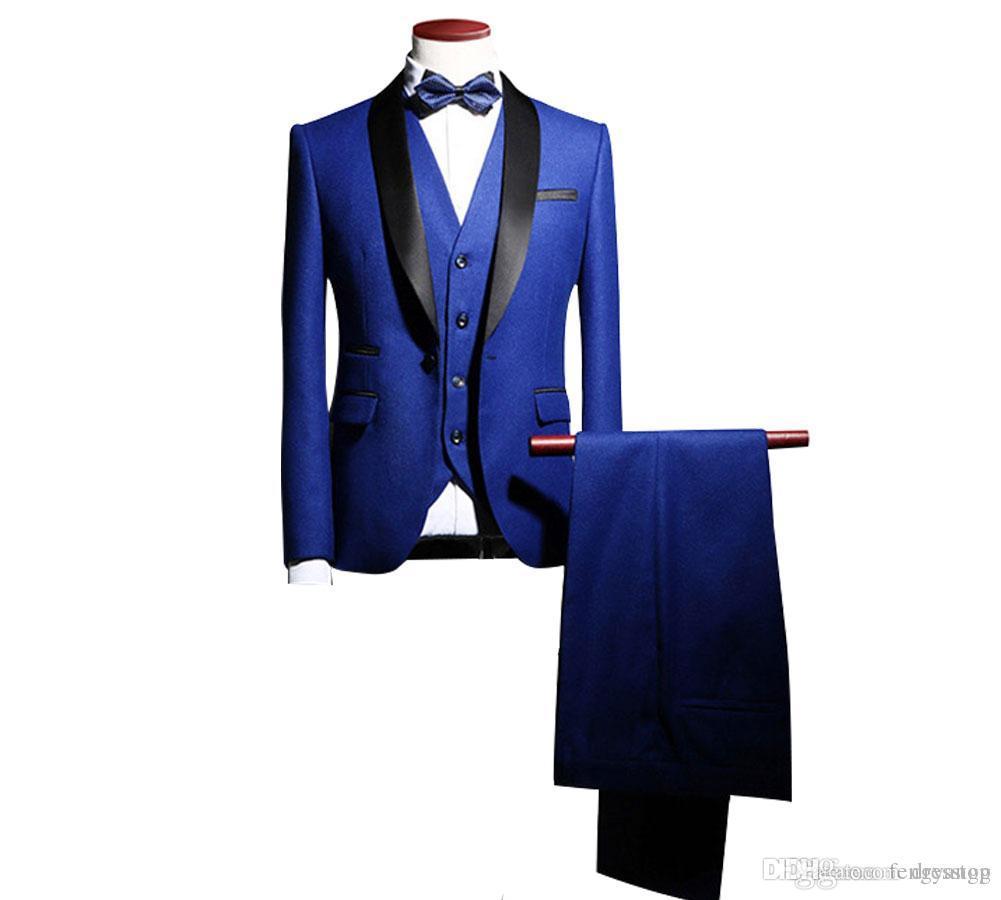 جديد وصول العريس البدلات الرسمية الزفاف السراويل معطف أفضل رجل السترة 3 أجزاء (سترة + سروال + سترة + التعادل) الرجال الدعاوى حفلة موسيقية اللباس البدلة مخصص