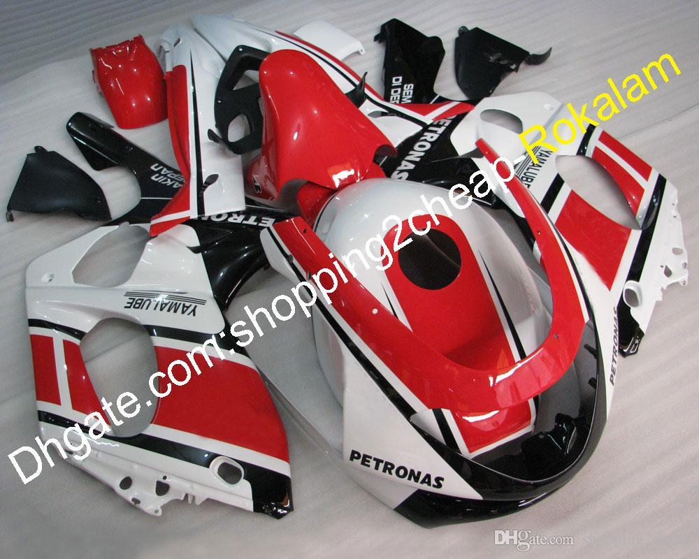 Nouveau Arrivée Kit de l'après-vente moto pour Yamaha YZF600R 1997-2007 Set de carénage YZF 600R Thundercat Rouge Blanc Blanc Black BodyWorks Kit de carénage