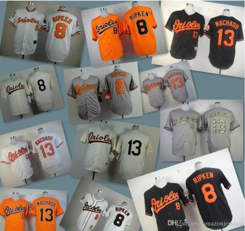 2020 men women kids Baseball Jerseys Oriol Stitched 8 Cal Ripken Jr 10 Adam Jones 13 Manny Machado white gray red black baseball Jersey gift